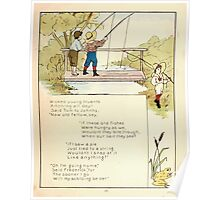 The Glad Year Round for Boys and Girls by Almira George Plympton and Kate Greenaway 1882 0045 Wicked Young Truants Poster