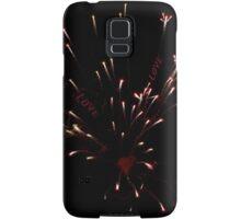Firecracker Red Heart  Samsung Galaxy Case/Skin