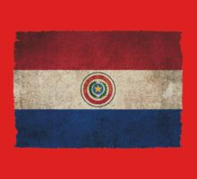Old and Worn Distressed Vintage Flag of Paraguay Kids Clothes