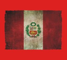 Old and Worn Distressed Vintage Flag of Peru Kids Clothes