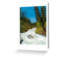 """""""Spring Creek""""  in the wilderness Greeting Card"""