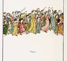 The Pied Piper of Hamlin Robert Browning art Kate Greenaway 0041 Tripping by wetdryvac