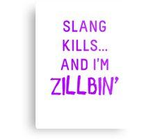 Slang Kills... (purple) Metal Print