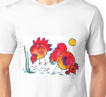 Chickens for children up to 80 years and older... Unisex T-Shirt