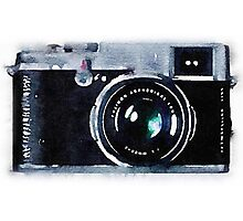 Vintage Camera in Watercolor Photographic Print
