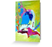 Pink Bird: Window to the imagination Greeting Card