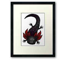 Melanoid Spotted Axolotl Framed Print