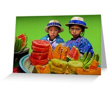 FRUIT STAND - GUATEMALA Greeting Card