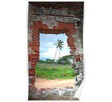 Wildnerness Beach Ruins - Puerto Rico Poster