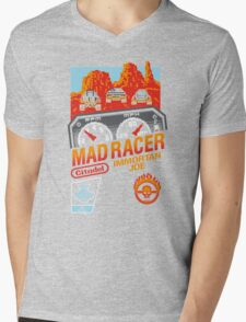 MAD RACER Mens V-Neck T-Shirt