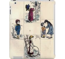 The Little Folks Painting book by George Weatherly and Kate Greenaway 0035 iPad Case/Skin