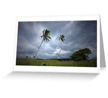 Twin Palms - Wildnerness Beach, Puerto Rico Greeting Card