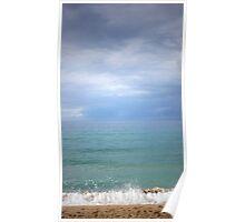 Vertical Ocean, Rincon Puerto Rico Poster