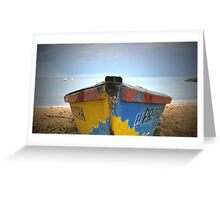 Front Row Boat Storm, Rincon Puerto Rico Greeting Card