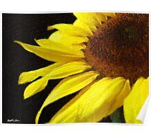 Sunflower 3 Painterly Poster