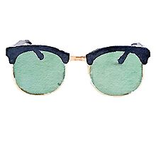 Vintage Wayfarers in Watercolor Photographic Print