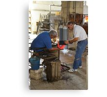 Ornamental Glass making Canvas Print