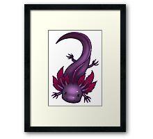 Lavender Axolotl Framed Print