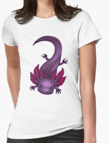 Lavender Axolotl Womens Fitted T-Shirt