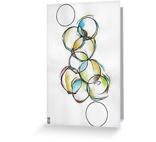 Circle Abstract - Counting To Ten Greeting Card