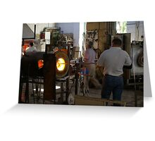Ornamental Glass making in Malta Greeting Card