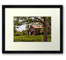 Another Spring ~ the Old Barn Still Stands Framed Print