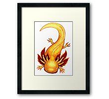 Golden Albino Axolotl Framed Print