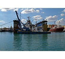 A ship within a ship in Valletta Harbour Photographic Print