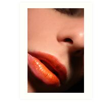 Two Tone Lips 2 Art Print