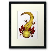 GFP Copper Axolotl Framed Print