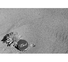 Dandelion and Bottle cap Photographic Print