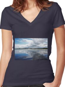 Town By The Water Women's Fitted V-Neck T-Shirt