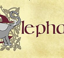 E is for Elephant - Manuscript Page V1.0 by Donna Huntriss