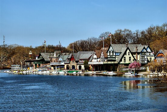 Boathouse Row by Bob Wall