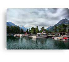 Marina, Waterton Lakes NP, Alberta, Canada Canvas Print