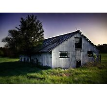 Metal Barn Photographic Print