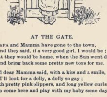 Miniature Under the Window Pictures & Rhymes for Children Kate Greenaway 1880 0036 At the Gate Sticker