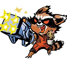 Rocket and Groot by gataro