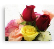 Mixed Cut Roses 2 Canvas Print