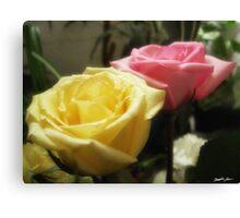 Mixed Cut Roses 5 Canvas Print