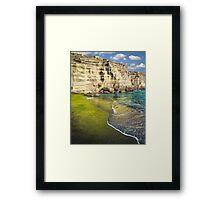 Green Sand Beach Framed Print