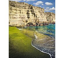 Green Sand Beach Photographic Print