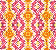 Orange, Yellow and Pink Abstract Design Pattern by Mercury McCutcheon