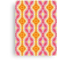 Orange, Yellow and Pink Abstract Design Pattern Canvas Print