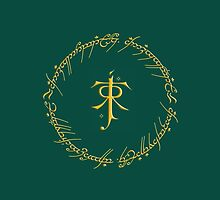Tolkien Symbol // One Ring Inscription by Denise Giffin