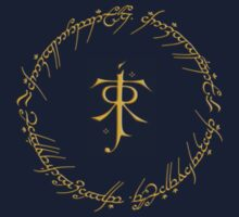 Tolkien Symbol // One Ring Inscription Kids Clothes