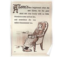 Gertie's Sunflower by George Lambert Mabel 1882 0021 Lonely Child Poster