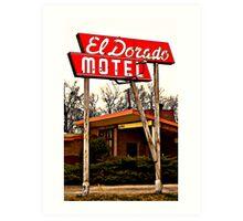 El Dorado Motel Art Print