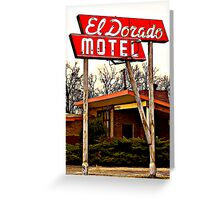 El Dorado Motel Greeting Card