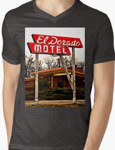 El Dorado Motel T-Shirt Mens V-Neck T-Shirt